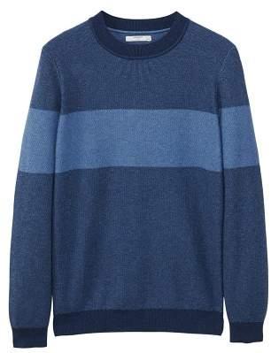 Mango man MANGO MAN Contrasting stripe knitted sweater