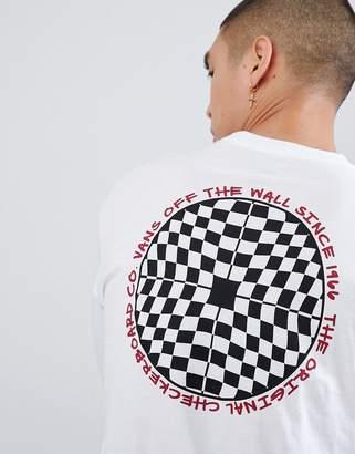 Vans Checkered Long Sleeve T-Shirt In White VA3H77WHT