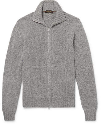 Loro Piana Mélange Baby Cashmere Zip-Up Cardigan