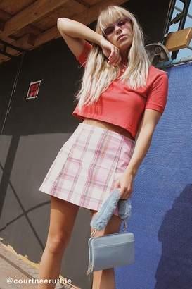 Urban Renewal Vintage Remnants Pastel Plaid Skirt