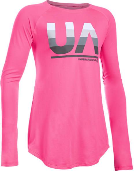 Under Armour Girls' Fade Long-Sleeve T-Shirt
