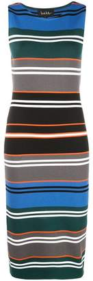 Nicole Miller striped fitted dress