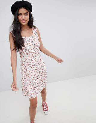 Nobody's Child Ruffle Sleeve Cami Dress In Ditsy Floral