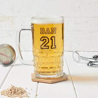 Owl & Otter Personalised Birthday Beer Glass Tankard