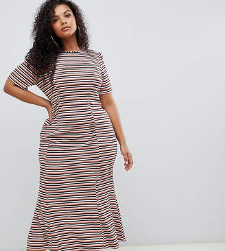 750a974e8e101 Asos DESIGN Curve city maxi dress in stripe rib