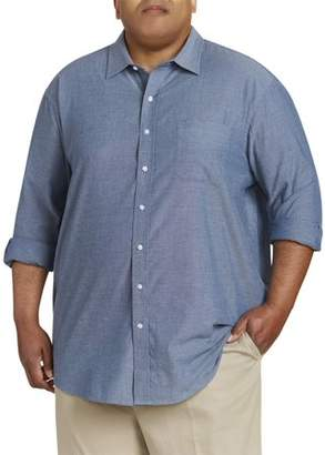 Canyon Ridge Men's Big And Tall Washed Roll Sleeve Chambray Shirt, Up To 7Xl
