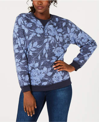 Karen Scott Batik-Print Sweatshirt, Created for Macy's