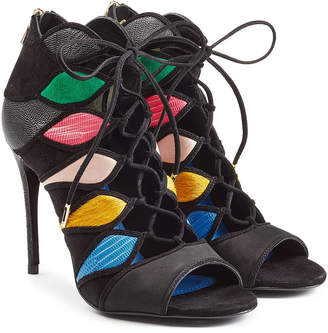 Salvatore Ferragamo Lace-Up Sandals with Leather