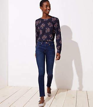 LOFT Modern High Rise Skinny Jeans in Staple Dark Indigo Wash