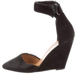Isabel Marant Pony Suede Wedge Pumps