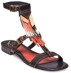 Brian Atwood Megan Fringed Sandals