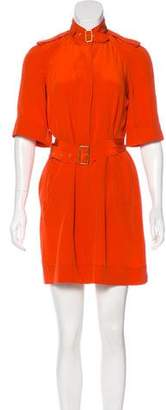 Diane von Furstenberg Belt-Accented Silk Dress