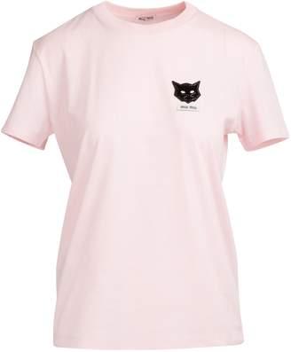 Miu Miu Cats patch t-shirt