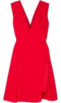 Versace Layered Satin-crepe Mini Dress