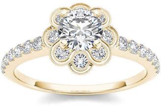MODERN BRIDE 1 1/4 CT. T.W. Diamond 14K Yellow Gold Engagement Ring