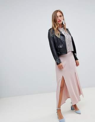 New Look Split Front Maxi Skirt