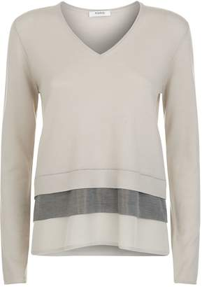 Peserico Crepe Trim Sweater