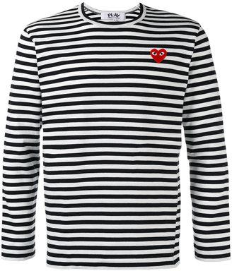 Comme Des Garçons Play Breton stripe T-shirt $149.21 thestylecure.com