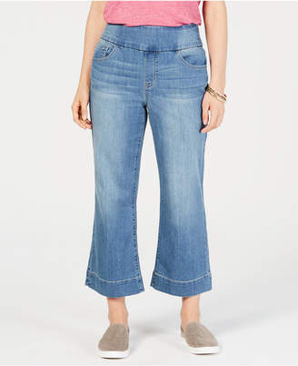 Style&Co. Style & Co Pull-On Wide-Leg Cropped Jeans