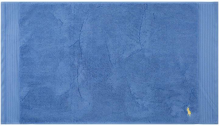 Polo Player Bath Mat - Blue