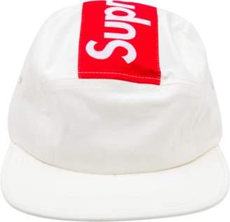 Off-White Supreme Top Panel Stripe Camp Cap - Off/White