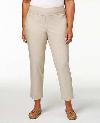 Charter Club Plus Size Cambridge Tummy-Control Pants, Created for Macy's