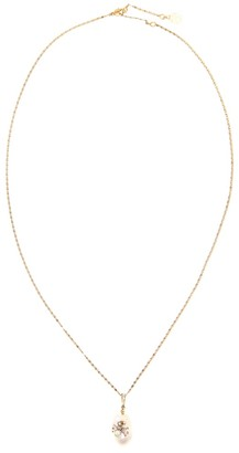 Alexander McQueen Faux pearl and crystal necklace