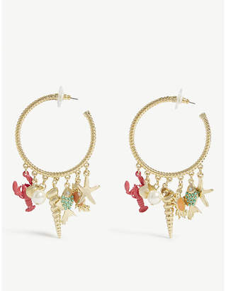 BaubleBar Under The Sea hoop earrings
