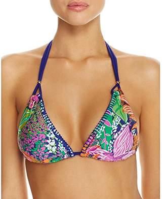 Trina Turk Women's Triangle Halter Hipster Bikini Swimsuit Top