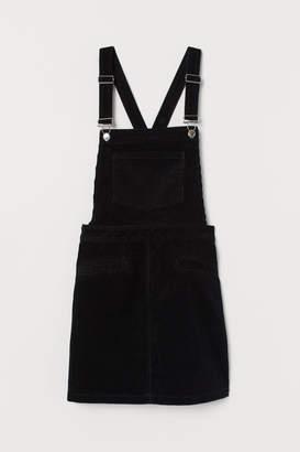H&M Corduroy Bib Overall Dress - Black