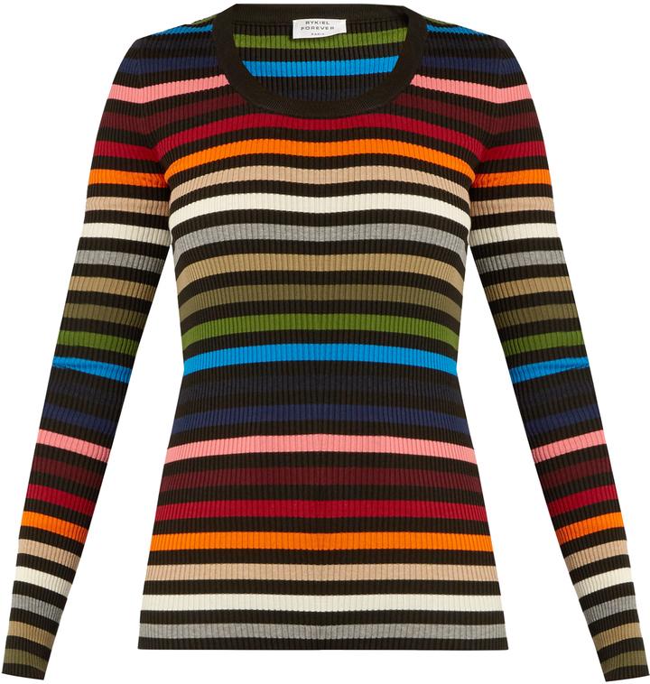 Sonia RykielSONIA RYKIEL Striped scoop-neck ribbed-knit sweater