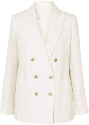 Max Mara Double-breasted Linen Blazer - Ivory
