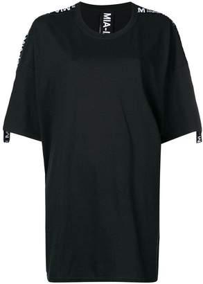 DAY Birger et Mikkelsen Mia-Iam logo trim T-shirt dress