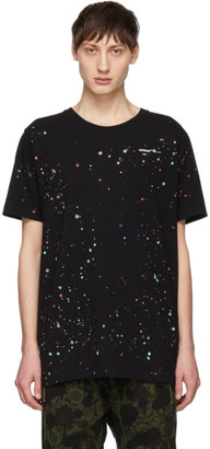 Off-White Black Paint Splatter T-Shirt