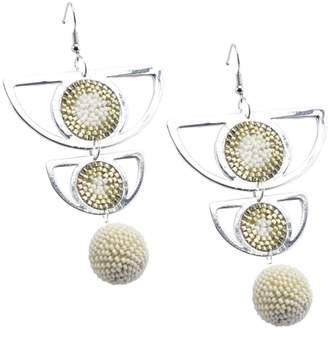 Mishky Beaded Agatha Ball Earrings