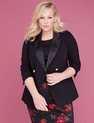 Lane Bryant Bryant Blazer - Double Breasted Sexy Stretch with Satin Lapel