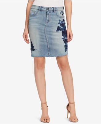 Vintage America Wonderland Embroidered Denim Skirt