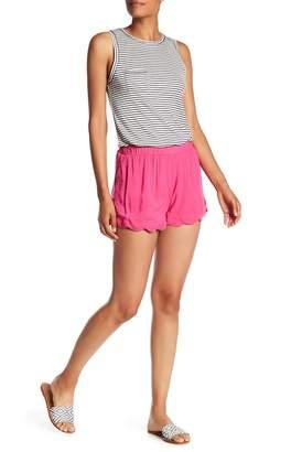 Lily White Scallop Hem Shorts