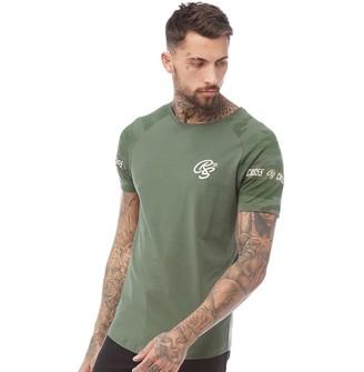 73db84cb Crosshatch Mens Melly Camo Print T-Shirt Green