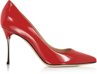 Sergio Rossi Carminio Red Soft Patent Leather Pumps