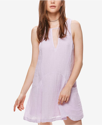 Free People Smooth Sailing Linen Mini Dress $108 thestylecure.com