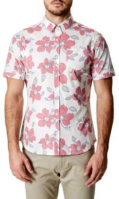 7 Diamonds Mind Shaft Trim Fit Floral Sport Shirt