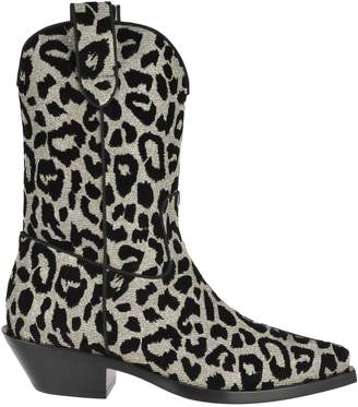 Dolce & Gabbana Leopard Print Gaucho Boots