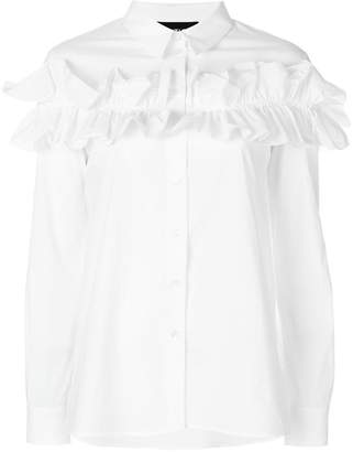 Moschino long sleeved ruffle shirt