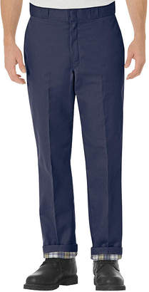 Dickies Relaxed-Fit Straight-Leg Flannel-Lined Work Pants