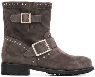 Jimmy Choo star studded buckle boots