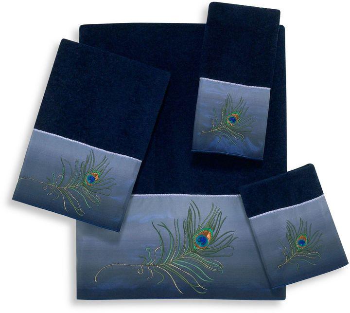 Avanti Francine Indigo Bath Towel Collection