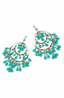 Women's J.crew Tiered Beaded Drop Earrings $65 thestylecure.com