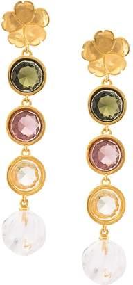 Lizzie Fortunato Nonna Flower earrings