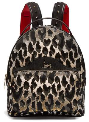 Christian Louboutin Backloubi Small Leopard Brocade Backpack - Womens - Leopard